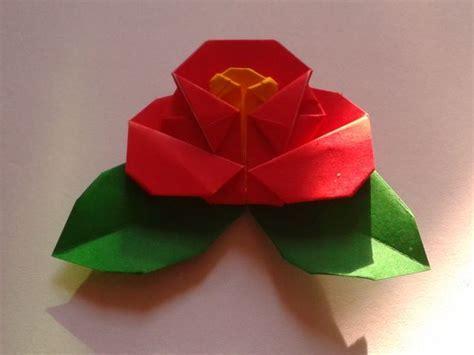 Origami Camellia - oltre 1000 immagini su origami flowers su