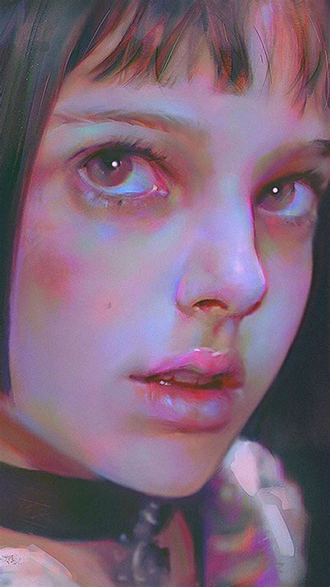 ax matilda leon paint illustration art yanjun cheng