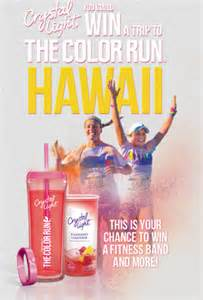 Text To Enter Sweepstakes - crystal light color run instant win and sweepstakes win a trip to hawaii more