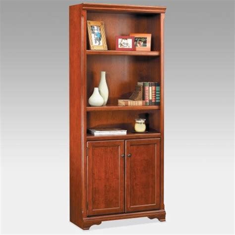 Cherry Bookcase With Doors Kathy Ireland Wood Bookcase With Doors Cherry Traditional Bookcases By Hayneedle