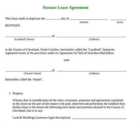 basic lease agreement template sle basic lease agreement 9 documents in pdf
