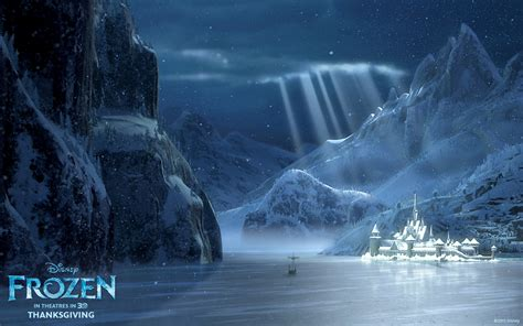frozen wallpaper roll arendelle in winter from disney s frozen desktop wallpaper