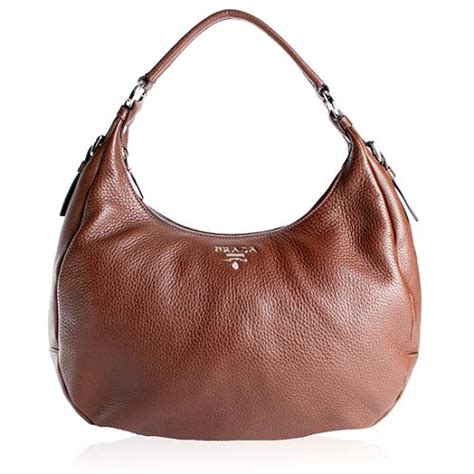 Prada Vitello Daino Mini Hobo Purse by Prada Vitello Daino Bruciato Hobo Handbag