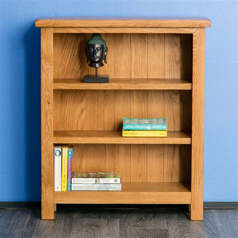 small solid wood bookcase surrey oak small bookcase solid wood low bookcase