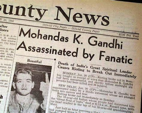 mahatma gandhi biography article roscoe reports 1948 mahatma gandhi assassinated
