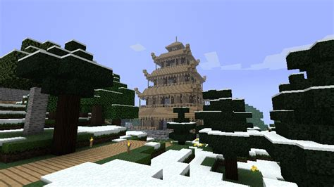 new to this forum and a japanese style kitchenknife asian style buildings screenshots show your creation