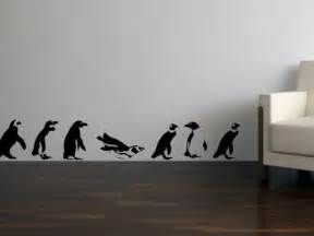 Penguin Wall Stickers Marching Penguin Vinyl Wall Art Decals Bombgrafx Home