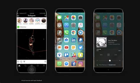 iphone new layout new iphone 8 concept shows the function area