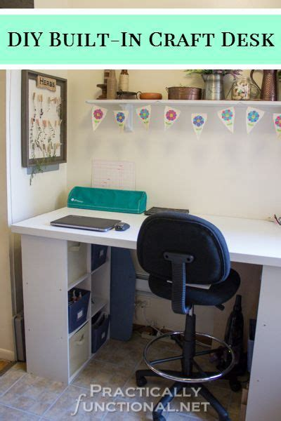 desk with cube storage make your own built in craft desk with a door and cube