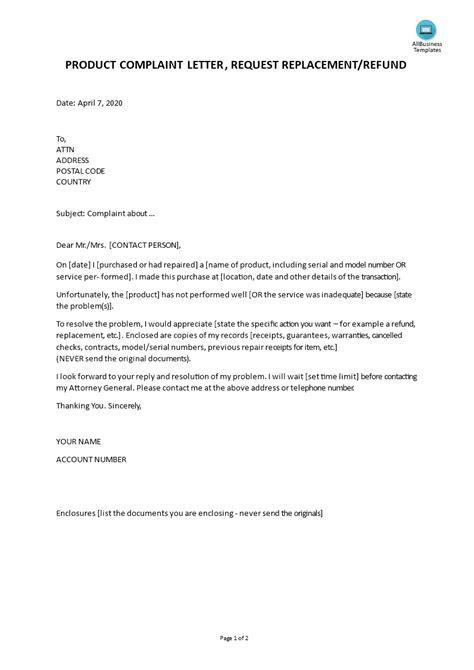 sample complaint letter contractor templates