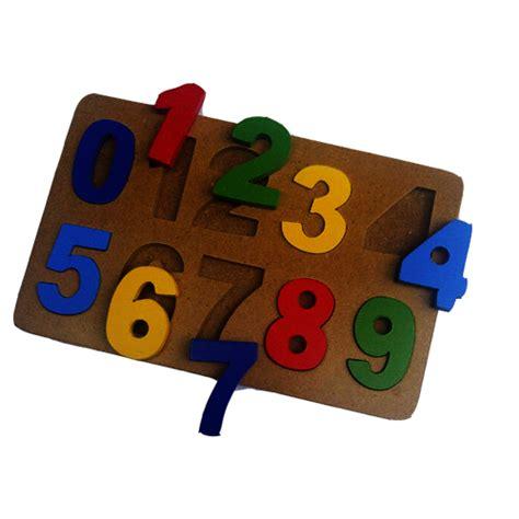 Puzzle Besi puzzle angka cat mainan kayu