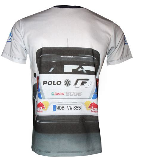Polo Shirt Vw Racing vw white t shirt with logo and all printed picture
