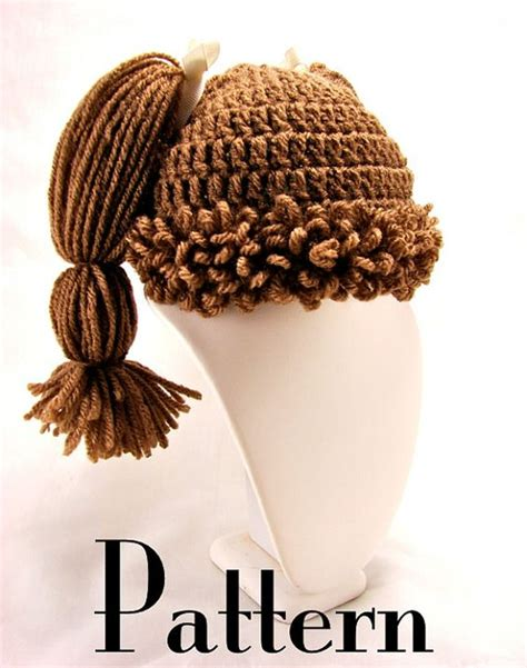 cabbagepatchknitted hat pattern cabbage patch wigs a little nostalgia in a big hairpiece