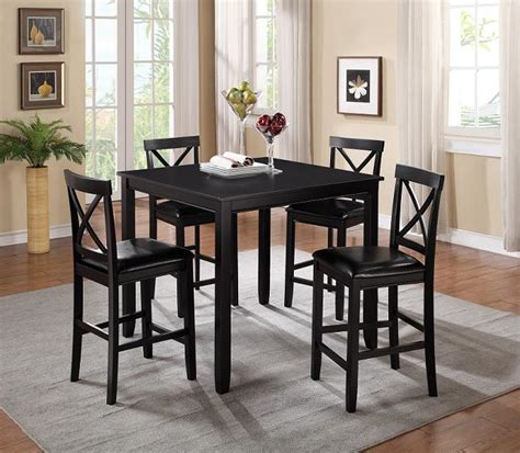 black pub table set black pub table with 4 pud chairs