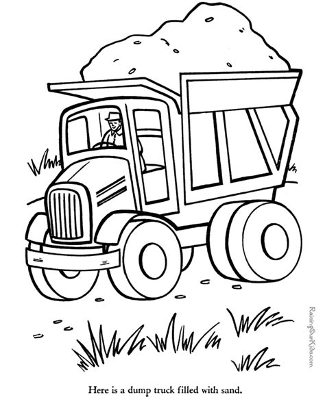 printable construction coloring pages coloring home