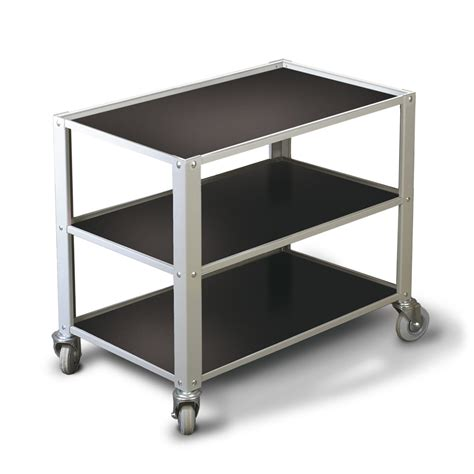 Bench With Shelf Underneath bench trolley 650mm 3 shelves