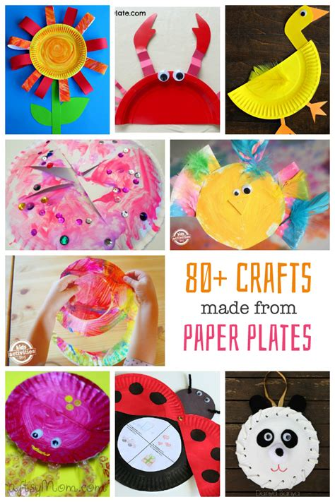 Paper Plate Toddler Crafts - 80 paper plate crafts for