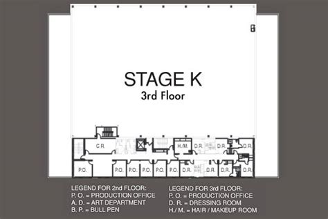 stage floor plan stage k kaufman astoria studios