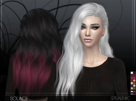 the sims 4 hair cc stealthic solace female hair