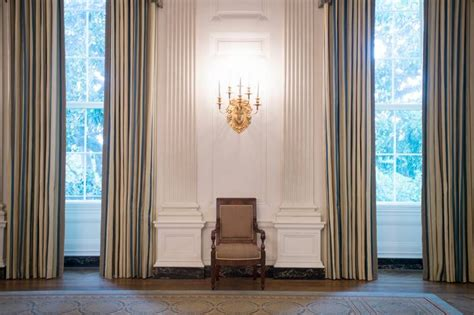 white house drapes a look at the new white house state dining room