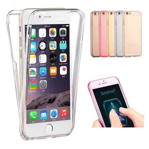 Iphone 6 6s Plus Soft Tpu Front And Back Cover Casing Cover Armor edwo for apple iphone 5 5s se 6 6s 7 plus new soft