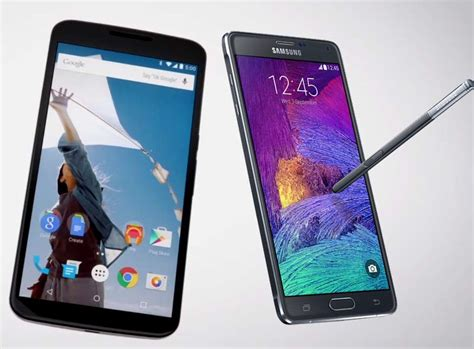 Nexus 6 Vs Samsung Galaxy Note 4 Nexus 6 Vs Samsung Galaxy Note 4 Specifications And Features Compared Bgr India