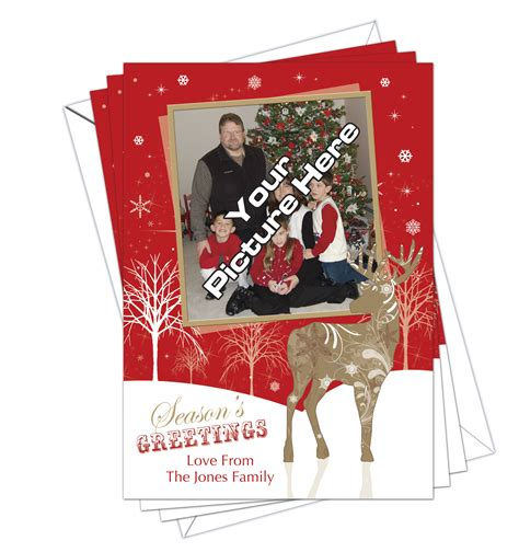 christmas cards own photo pack of 10 d l designs ltd