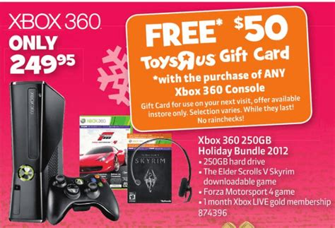 Toys R Us Canada Gift Card - toys r us free 50 gift card with xbox 360 purchase hot canada deals hot canada deals