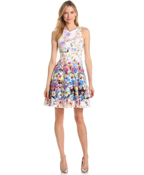 cute floral fit amp flare summer dress 2013