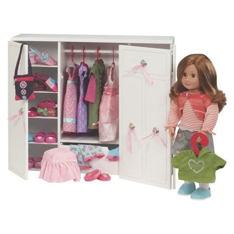 Doll Clothes Wardrobe by Wooden Wardrobe Our Generation Target