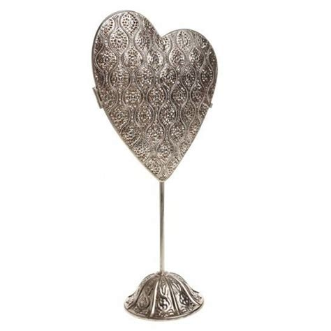 pre lit large standing heart ornament