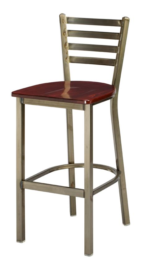 bar stools heights regal seating model 1516w commercial metal ladderback