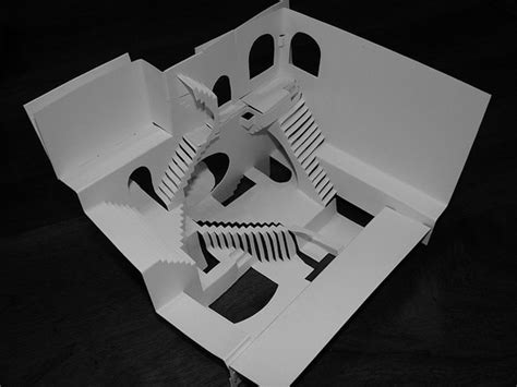 Optical Illusion Papercraft - m c escher in origami