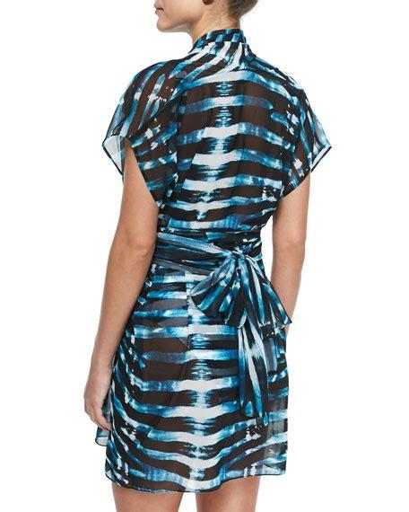 Lenny Stripe lenny niemeyer striped wrap scarf dress