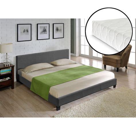 bett leder schwarz corium 174 led modernes polsterbett matratze 140x200cm kunst