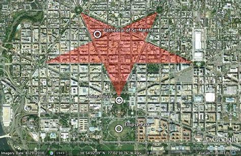 washington dc map owl pentagram