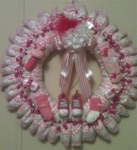 Baby Girl Diaper Wreath Baby Shower Door Gift Ideas