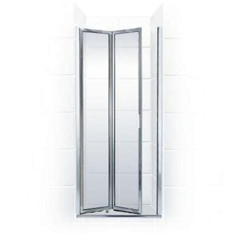 Folding Glass Shower Door Coastal Shower Doors Paragon Series 29 In X 67 In Framed Bi Fold Hinged Shower Door In