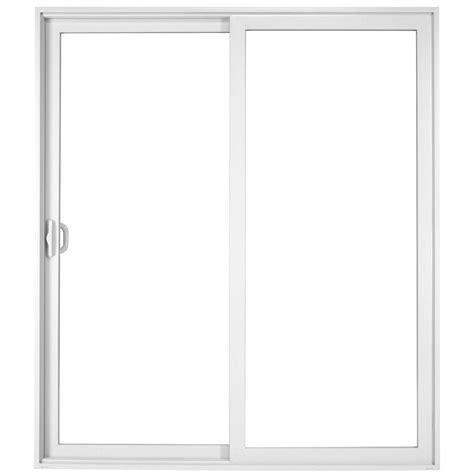 60 X 80 Sliding Patio Door Milgard Windows Doors 60 In X 80 In Vinyl Left Sliding Patio Door 5621 The Home Depot