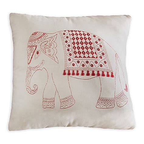 flat bed pillow buy brooklyn flat elephant square throw pillow in red from bed bath beyond