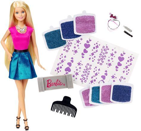 design doll perspective barbie glitter hair design doll
