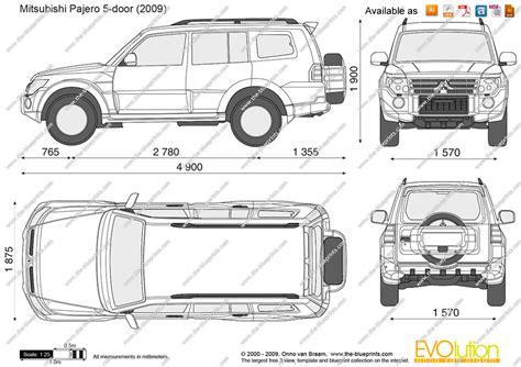 Cad Drawings Online the blueprints com vector drawing mitsubishi pajero iv