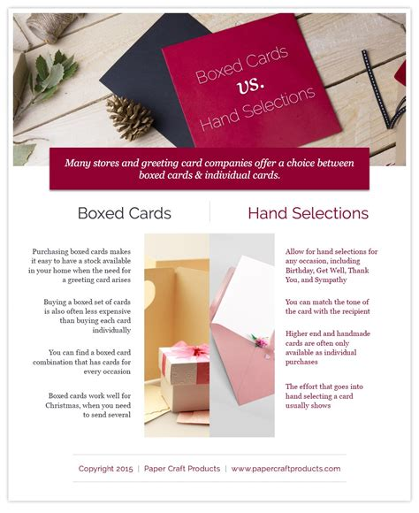 Papercraft Products - boxed vs individual cards paper craft products
