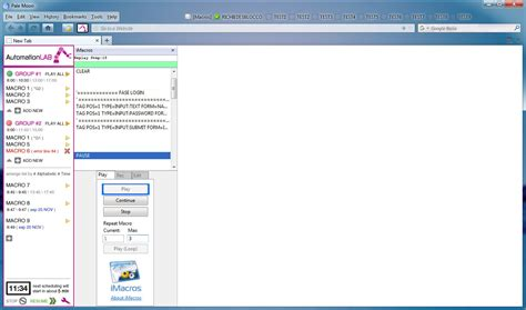 imacros javascript tutorial automationlab firefox extension development for