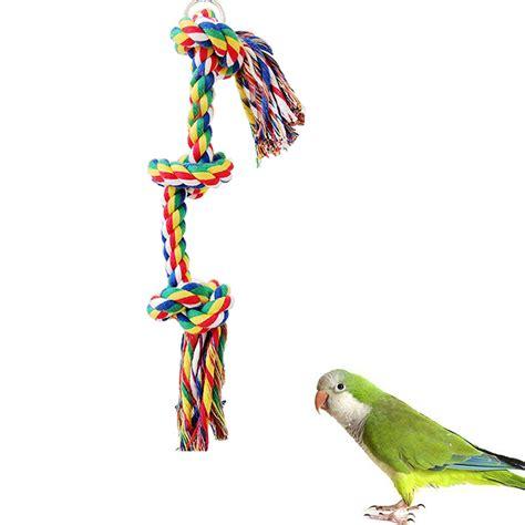 parrot rope swing 25cm pet bird parrot rope swing parakeet cockatiel conure