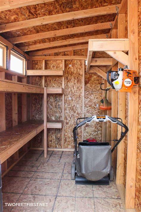 build storage shelves   shed  garage