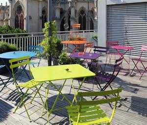 table fermob bistro fermob bistro colourful designer metal folding table
