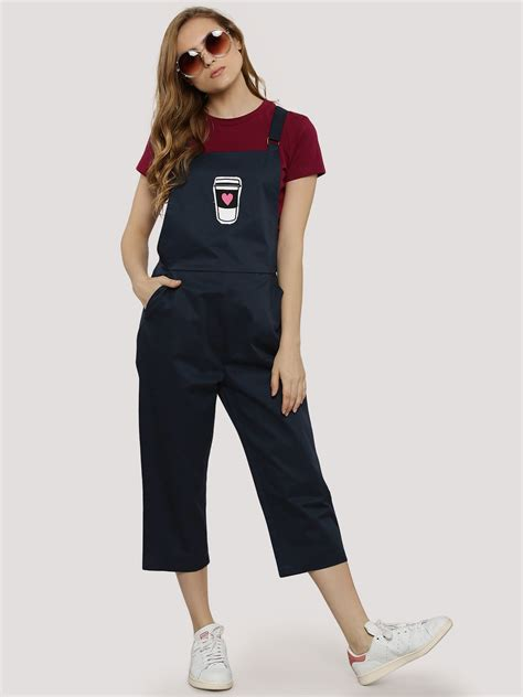 Patchwork Dungarees - buy coffee cup patchwork dungaree for