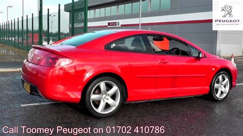 peugeot 407 coupe 2008 2008 peugeot 407 coupe bellagio 2l flamenco red gj58xuw