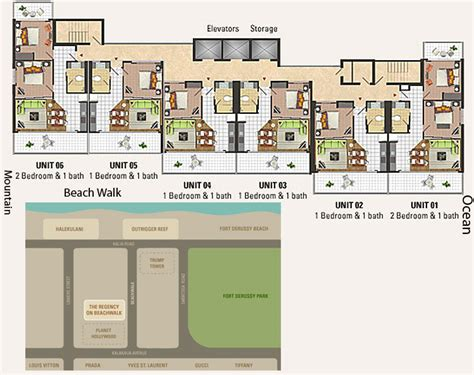 regency park floor plan regency on beachwalk honolulu hawaii condo by hicondos com